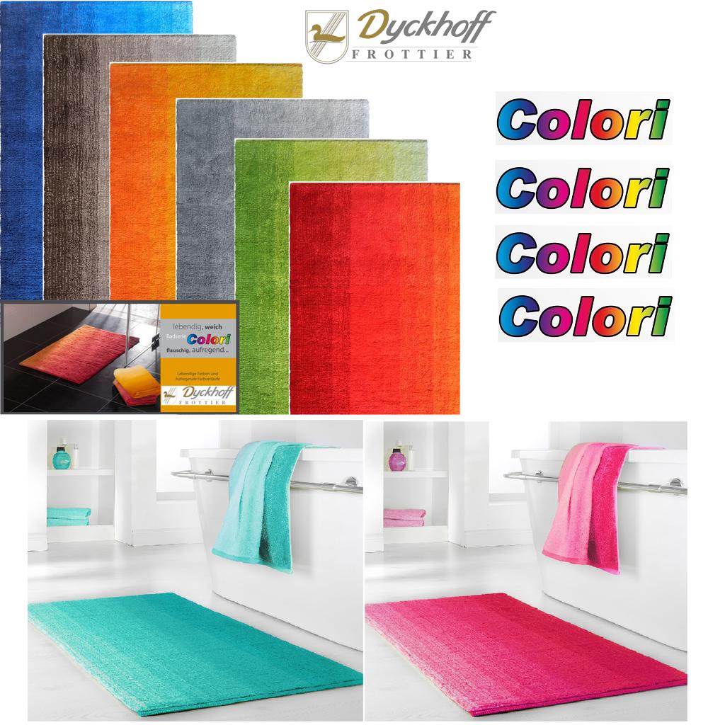 dyckhoff badteppich colori 100 bio baumwolle. Black Bedroom Furniture Sets. Home Design Ideas