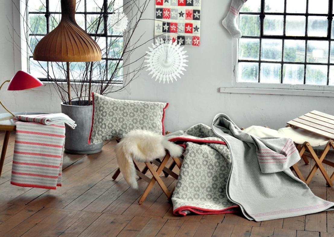david fussenegger wohndecke bett divan berwurf nova fischgr t abgestreift 140 200. Black Bedroom Furniture Sets. Home Design Ideas