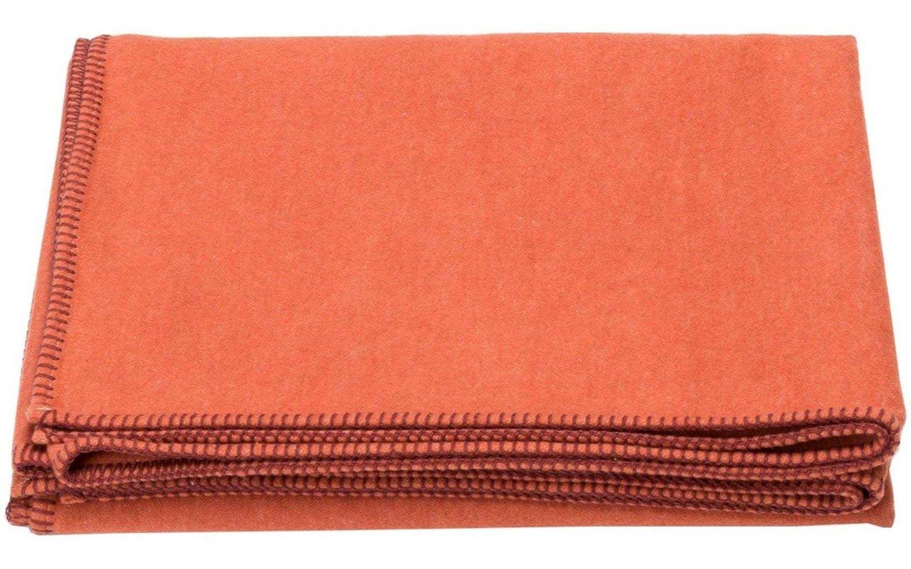 David Fussenegger Wohndecke Sylt uni 140 x 200 cm Teracotta - Orange 3102/74