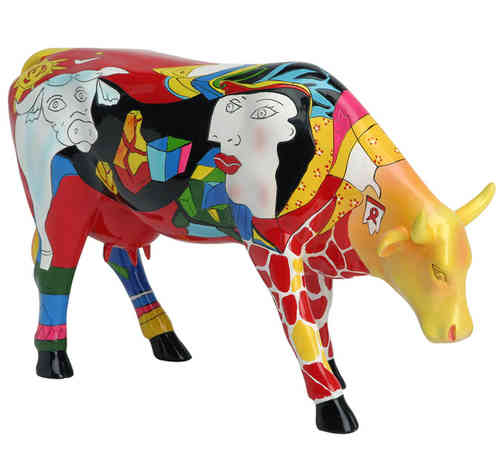 Picowso's African Period - Cowparade Kuh Large