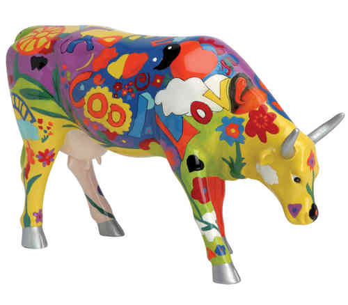 Groovy Moo - Cowparade Kuh Large