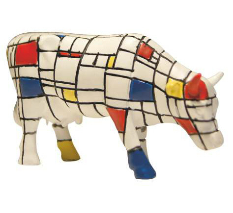 Moondriaan - Cowparade Kuh Small