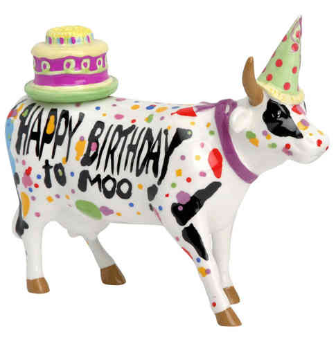 Happy Birthday Cow - Cowparade Kuh Medium