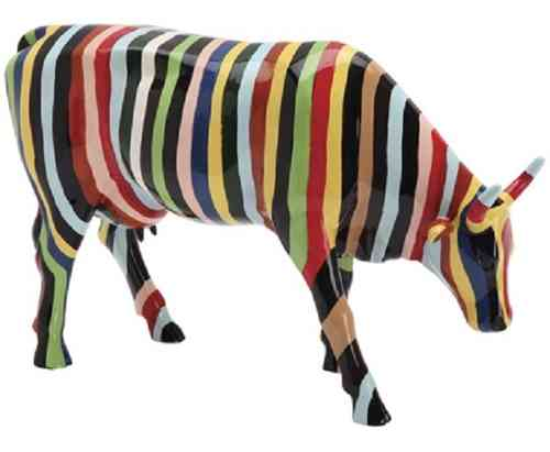 Striped - Cowparade Kuh Large