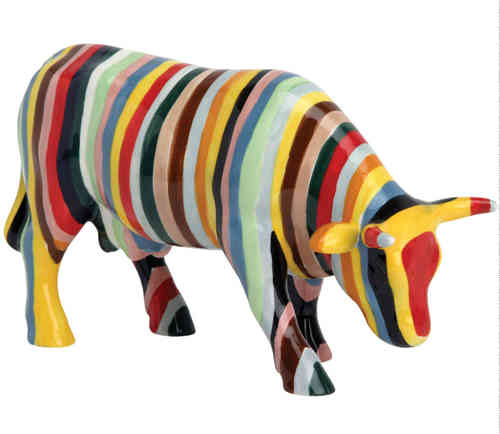 Striped - Cowparade Kuh Medium