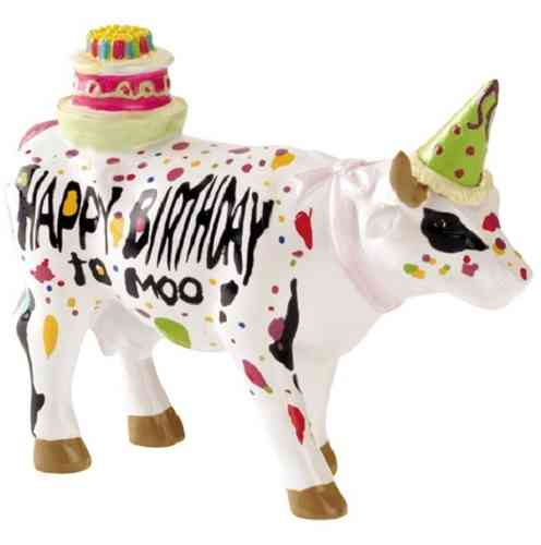 Happy Birthday to Moo - Cowparade Kuh Small