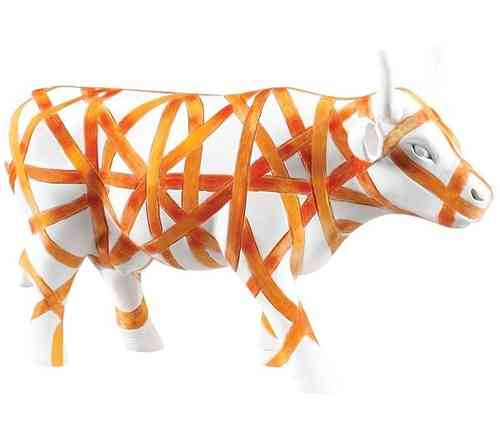 Vaca con Cinta - Cowparade Kuh Medium