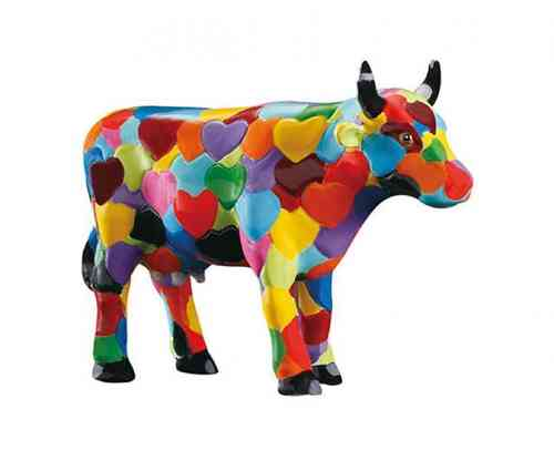 Heartstanding Cow - Cowparade Kuh Small