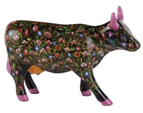 Flower Power Cow - Cowparade Kuh Medium