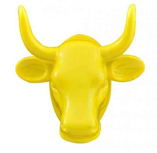 Cowparade Kuh Magnet Gelb