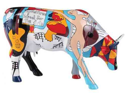 Picowso's School for the Arts -  Cowparade Kuh Large