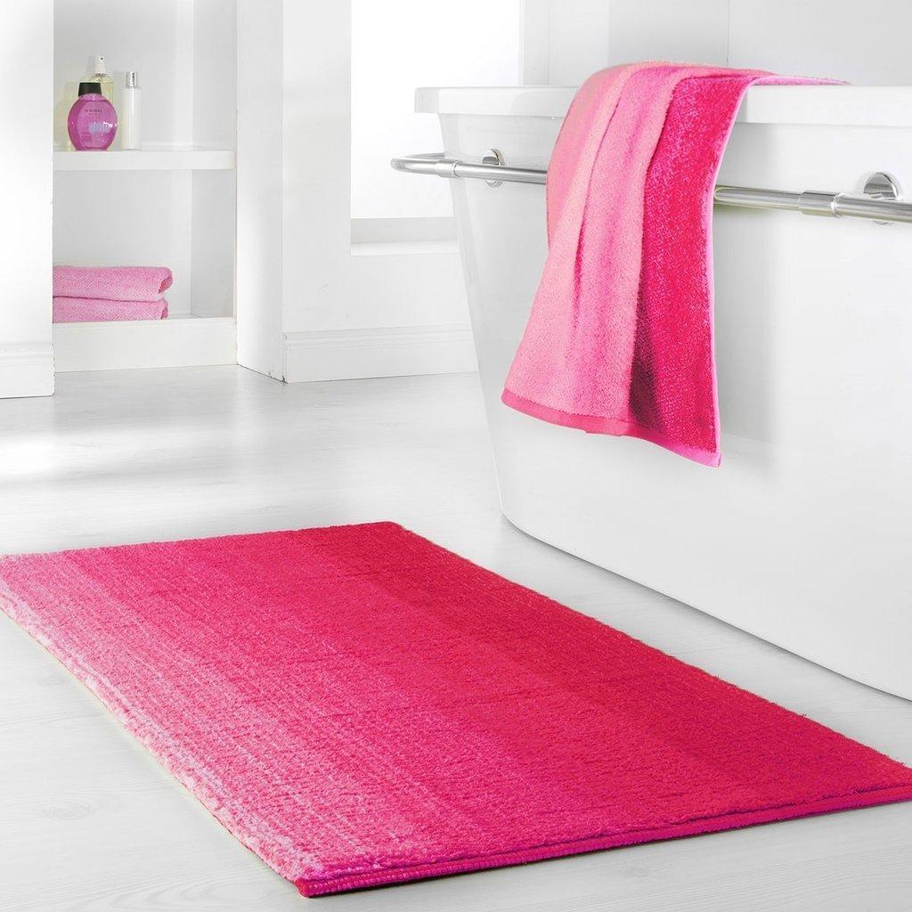 Dyckhoff Badteppich Colori Pink 60 x 100 cm 100% Bio Baumwolle 0928528600