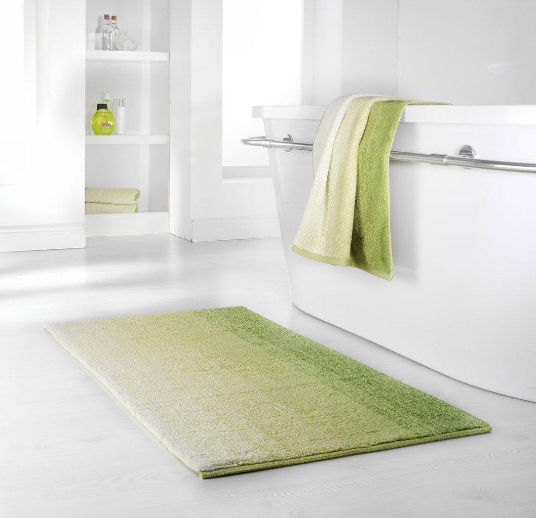 Dyckhoff Badteppich Colori Grün 70 x 120 cm 100% Bio Baumwolle 0928529300