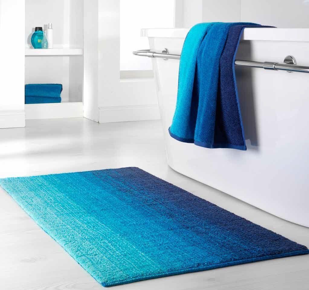Dyckhoff Badteppich Colori Blau 55 x 65 cm 100% Bio Baumwolle 0928526400