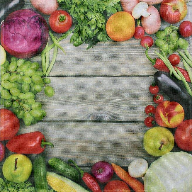 framsohn Geschirrtuch Vollflächendruck 'Gemüse' 50 x 50 cm 27864