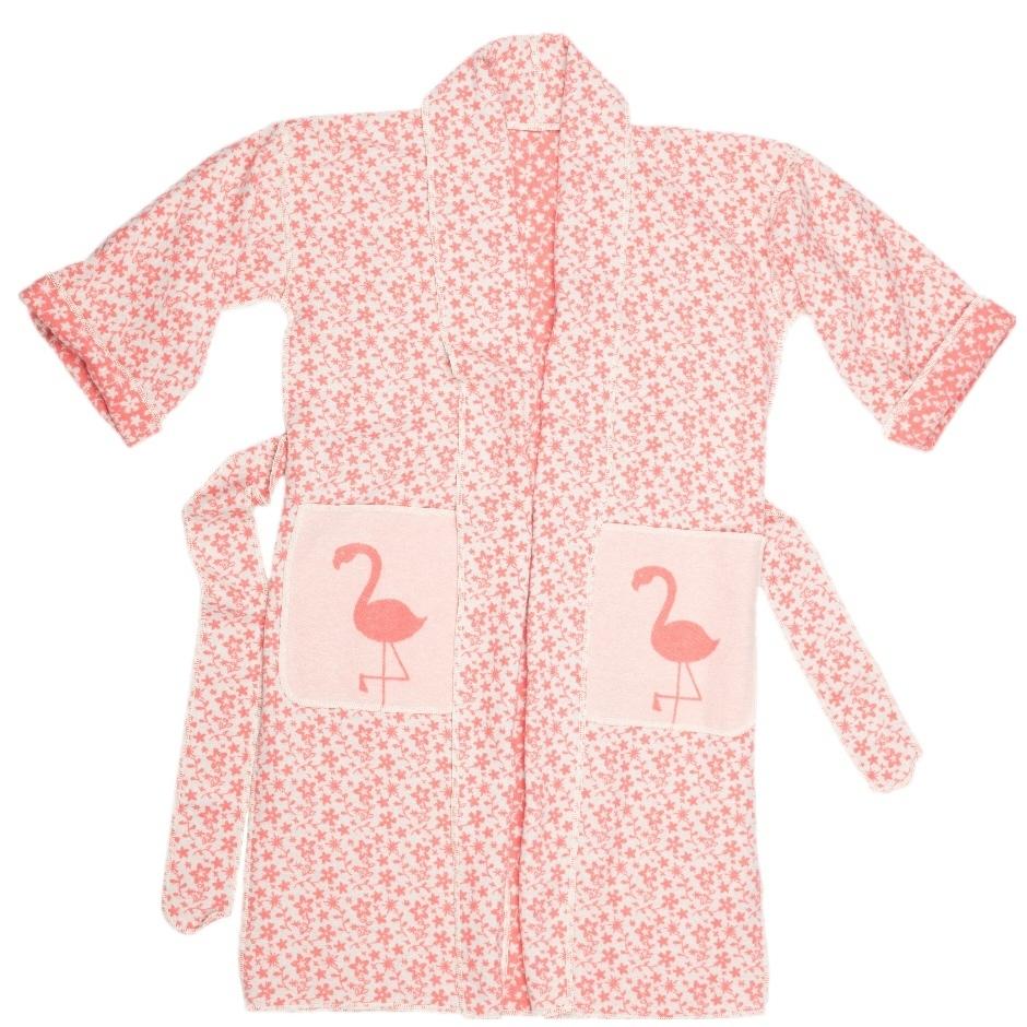 David Fussenegger Kimono Bademantel 'Flamingo' S/M Grenadine 9580/11