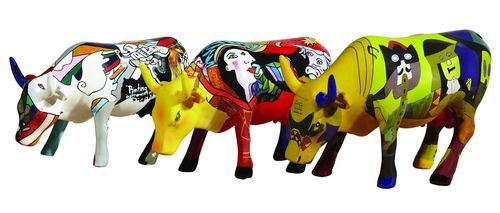 Art Pack - 3 x Cowparade Picowsso