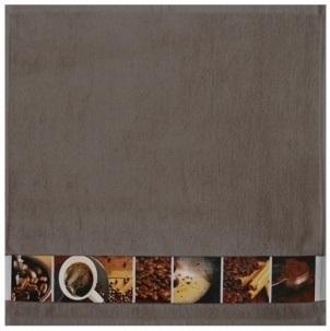 "framsohn Geschirrtuch Zwirn ""Kaffee"" 50 x 50 cm Taupe - Braun 27188641"