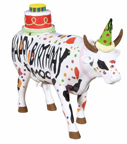 Happy Birthday to Moo - Cowparade Kuh Large