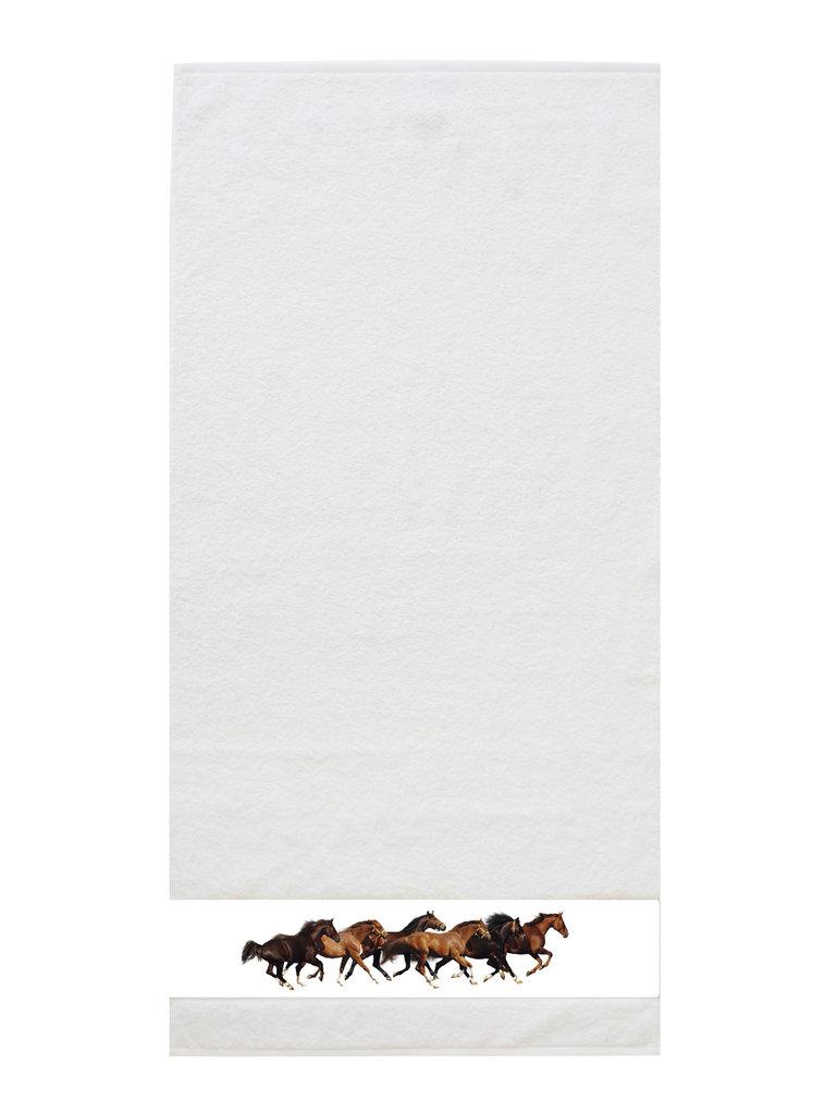 framsohn Handtuch 'Pferde' 50 x 100 cm Weiß 27533001