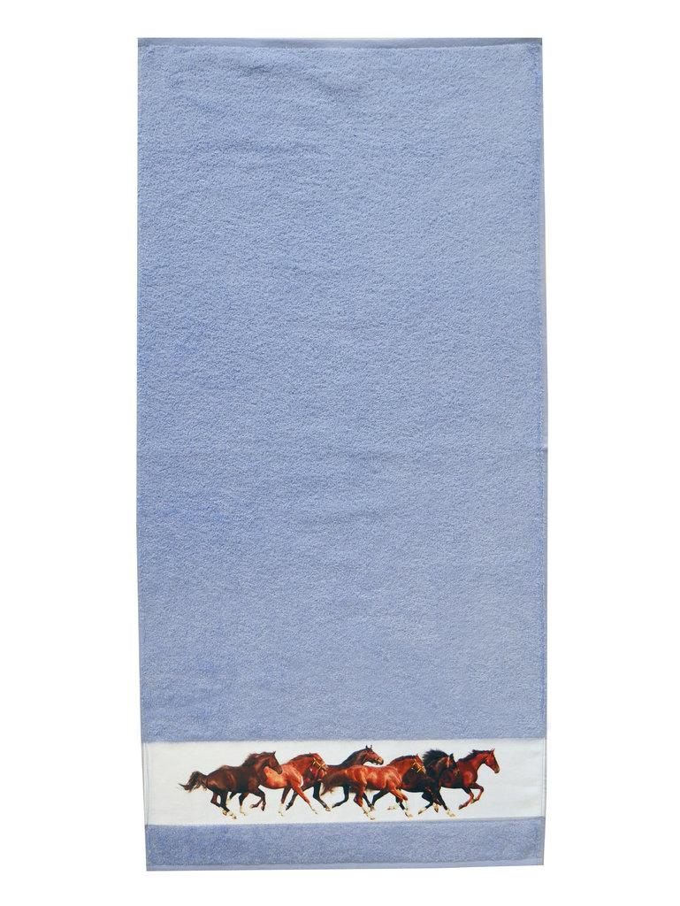 framsohn Handtuch 'Pferde' 50 x 100 cm Aqua - Blau 27533129