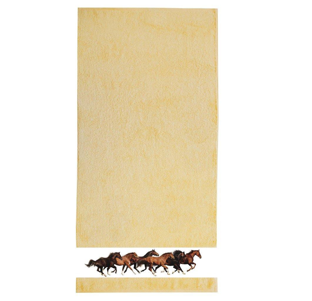 framsohn Handtuch 'Pferde' 50 x 100 cm Limone - Gelb 27533322