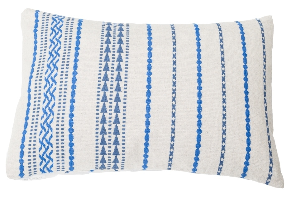 David Fussenegger Kissenhülle Lino 'Ethno' 40 x 60 cm Blau 7965/20