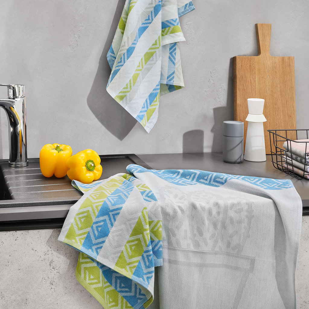 Dyckhoff Geschirrtuch 3er Set 'Kaktus' 50 x 70 cm Grün 0222399300