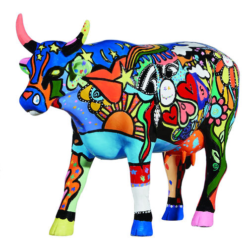 Moosy in the Sky with Diamonds -  Cowparade Kuh Large