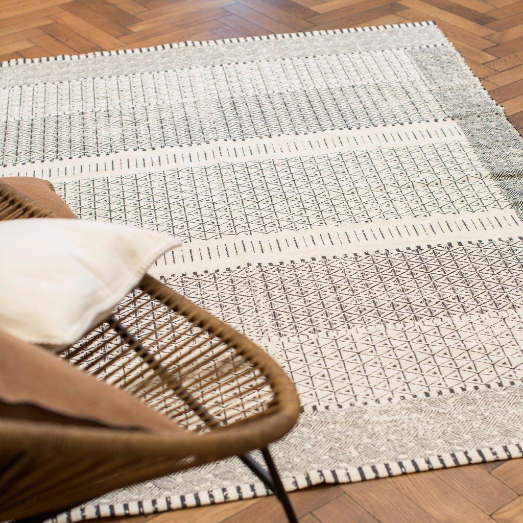 David Fussenegger Teppich Goliat 'Marokko' 150 x 200 cm Rohweiß 0644/60