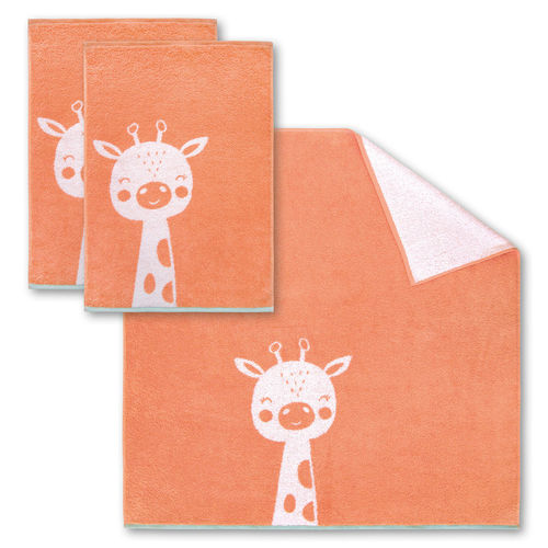 Dyckhoff Kinderfrottierserie 'Giraffe' Koralle - Orange