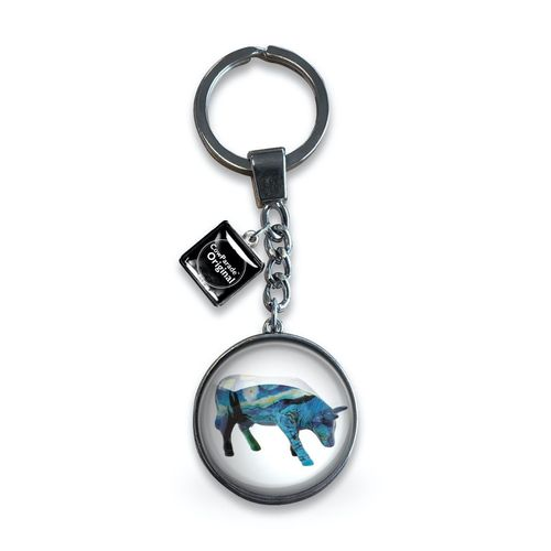 Cowparade Glass Keyring 'Vincent's Cow'