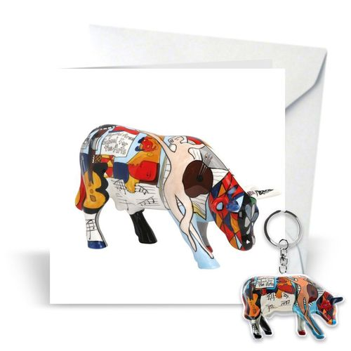 Cowparade Card & Keyring 'Picowso's School for the Arts'